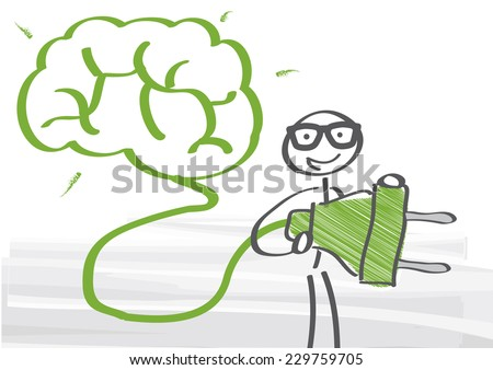 Vector Illustration Switch On Your Brain  - stock vector