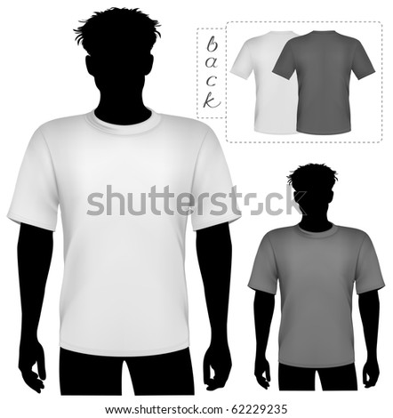Vector illustration. T-shirt design template. - stock vector