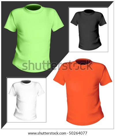 Vector illustration. T-shirt design template. Black, white and color.