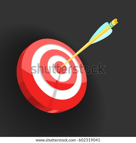 Vector Illustration Target and Arrow