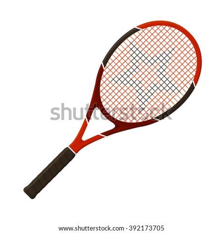Vector illustration. Tennis racket isolated on white background  - stock vector