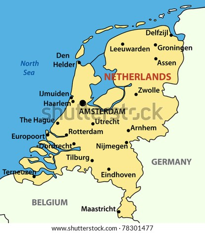 vector illustration - The Kingdom of the Netherlands - stock vector