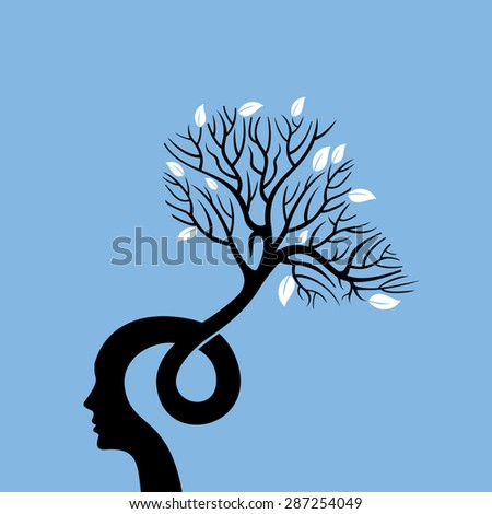 Vector Illustration, think green save earth - stock vector
