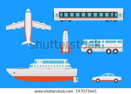 Vector illustration transport set - stock vector