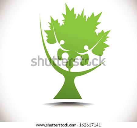 Vector Illustration. Tree symbol. - stock vector