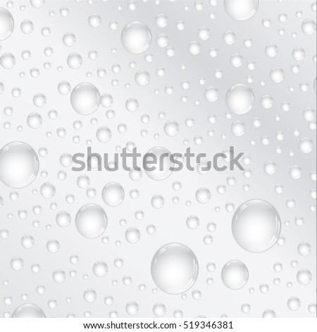 Vector illustration water bubbles.