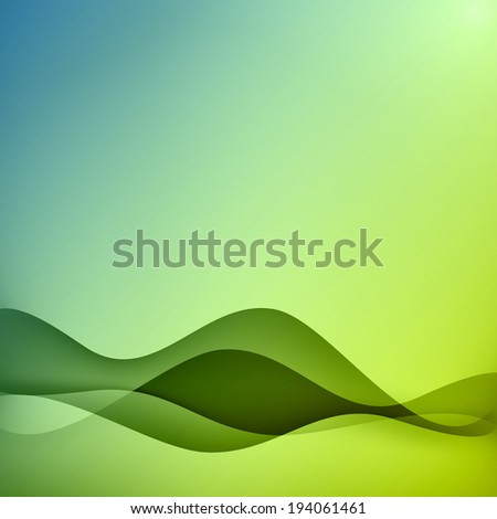 Vector illustration. Wave abstract background. - stock vector