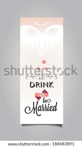 Vector illustration. Wedding invitation card - stock vector