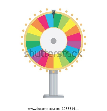 Vector illustration wheel of fortune. Lucky spin icon in flat style. - stock vector