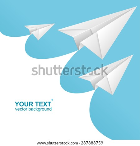 National Paper Airplane Stock Vector Shutterstock - Box paper airplane
