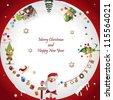 Vector illustration: Winter, Christmas, seasonal greeting card graphic design elements (Part 5) - stock vector