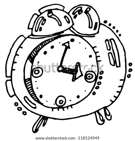 Vector illustration with alarm clock