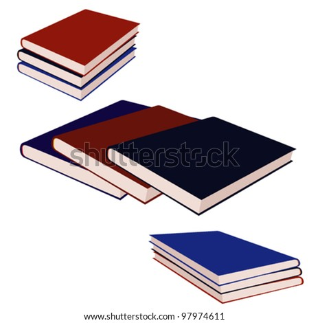 vector illustration with books