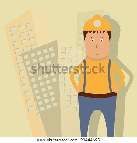 Vector illustration with builder