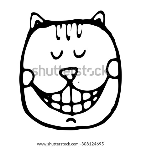 Vector illustration with cheshire cat for tale Alice in Wonderland - stock vector