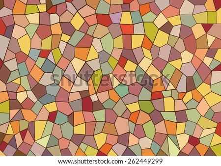 Vector illustration with colorful mosaic