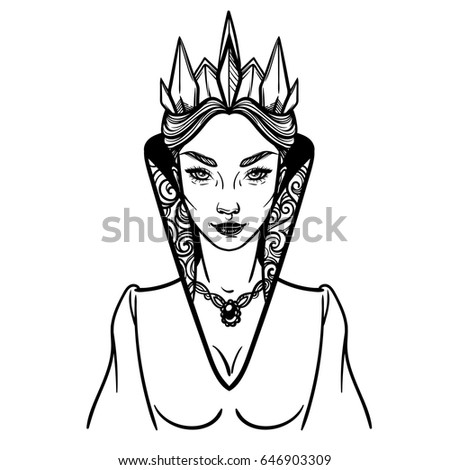 Evil queen stock images royalty free images vectors for Evil queen coloring pages