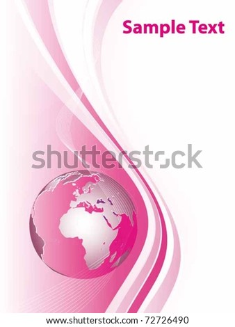 vector illustration with globe - stock vector