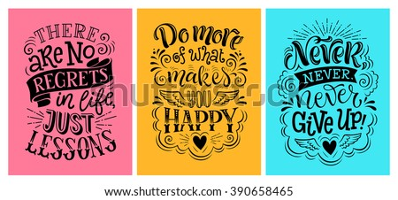 Vector illustration with hand-drawn lettering.  Set of inscription for invitation and greeting card, prints and posters. Calligraphic design - stock vector
