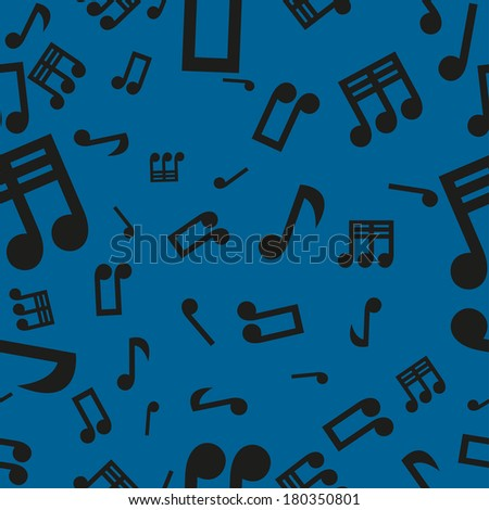 Vector illustration with musical symbols, seamless pattern
