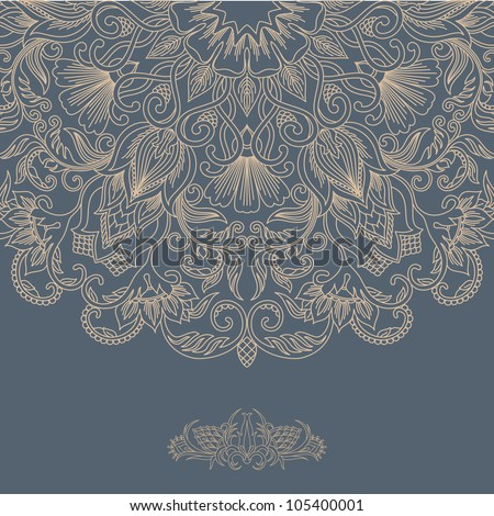 Vector illustration with ornament for greeting card. - stock vector