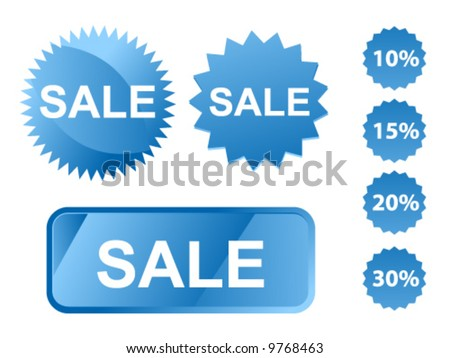 vector illustration with shopping stickers
