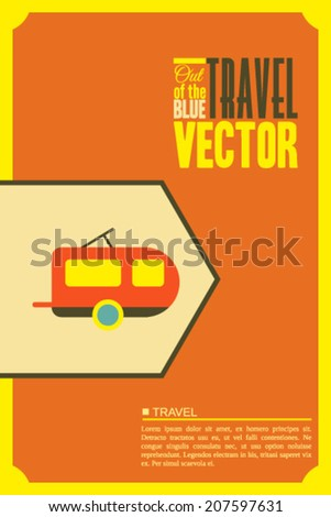 Vector illustration with travel and places