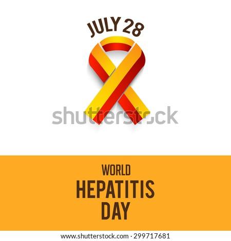 vector illustration World Hepatitis Day. - stock vector