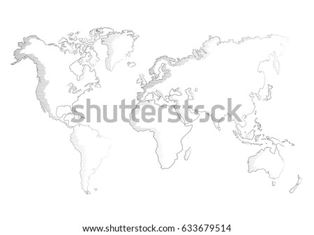 World Map Pencil Sketch on stock telecaster wiring diagram