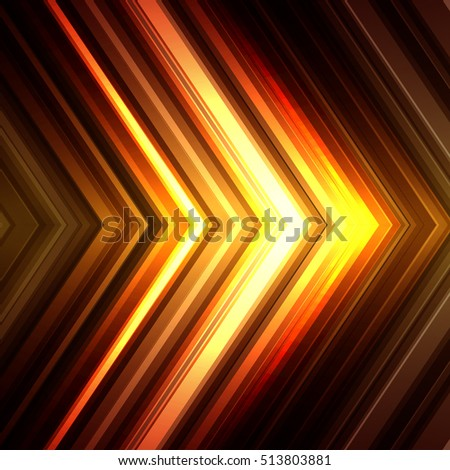 Vector illustration yellow brown glowing background for greeting card, postcard, business card or poster