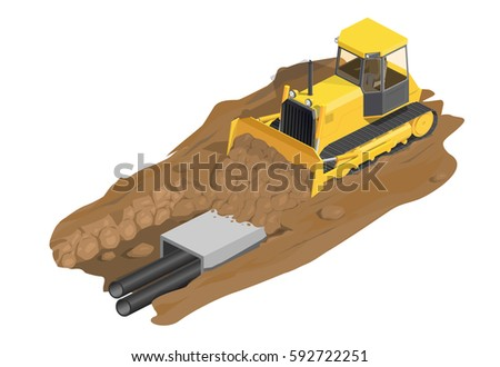 dirt digging machine