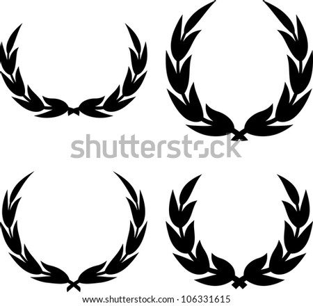 Vector illustrations - Laurel wreaths clipart isolated - stock vector