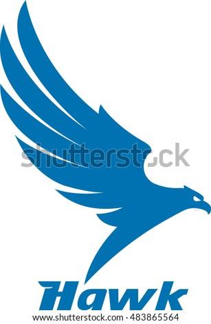 Vector Illustrations Mascot Eagle Flying Logo Stock Vector 483865564
