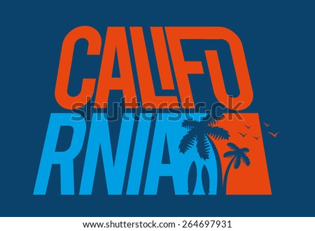 vector illustrations wave surfing cool California style, dynamic graphics, design for t-shirts, vintage graphic design - stock vector