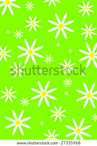 vector illustratoin Seamless flower pattern - stock vector