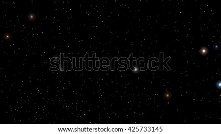 Vector image Abstract Stars constellation night Background - stock vector