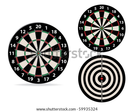 Vector image darts - stock vector