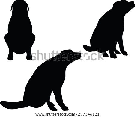 vector image dog silhouette isolated on white background