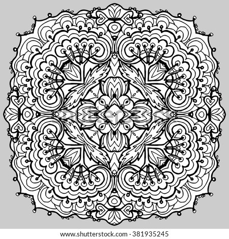 Vector Image Doodle Drawing The Floral Motif It Can Be Used As A Decorative