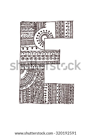 vector image, letters decorated with ornaments