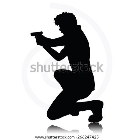 Pointing Shotgun Stock Vectors & Vector Clip Art ...
