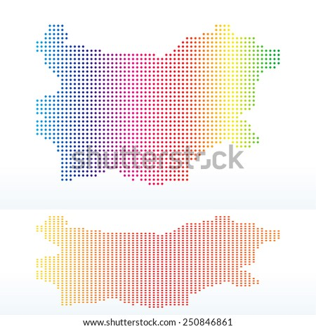Vector Image -  Map of Republic of Bulgaria with with Dot Pattern - stock vector