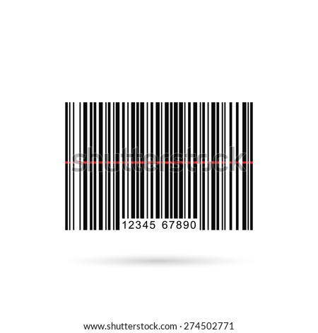 Vector image of a barcode isolated on a white background. - stock vector