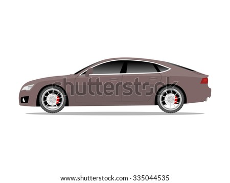 Vector image of a brown sports car