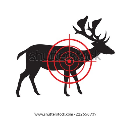 Vector image of a deer target on a white background. - stock vector