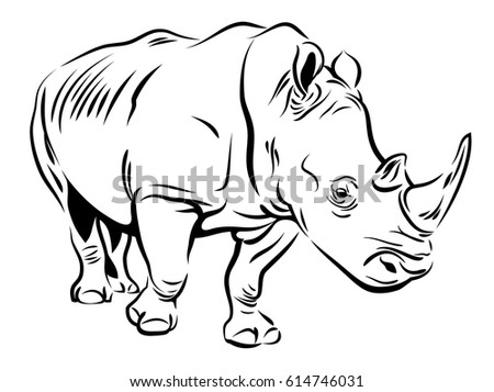 Rhino stock images royalty free images vectors shutterstock vector image of a rhino ccuart Gallery