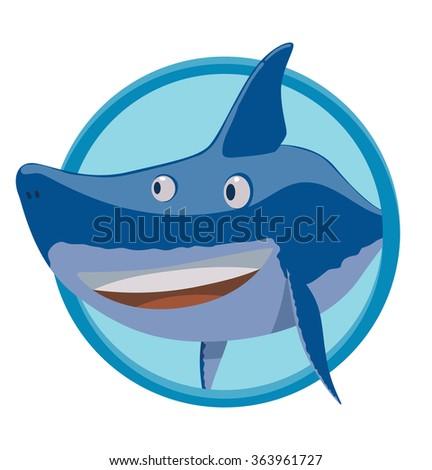Vector Image Round Blue Frame Cartoon Stock Vector HD (Royalty Free ...