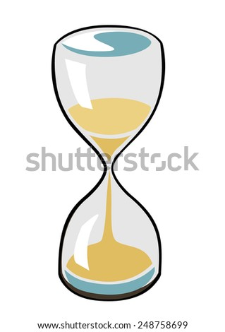 Vector image of a sand timer - stock vector