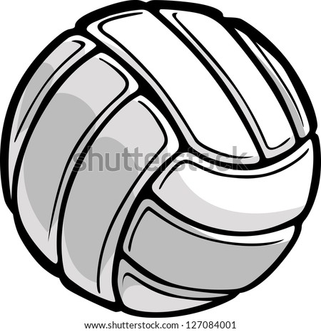 Vector Image of a Volleyball Ball Illustration - stock vector