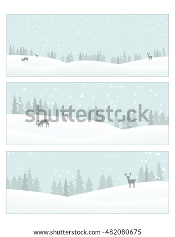 Vector image of a winter scenery. Christmas Card.